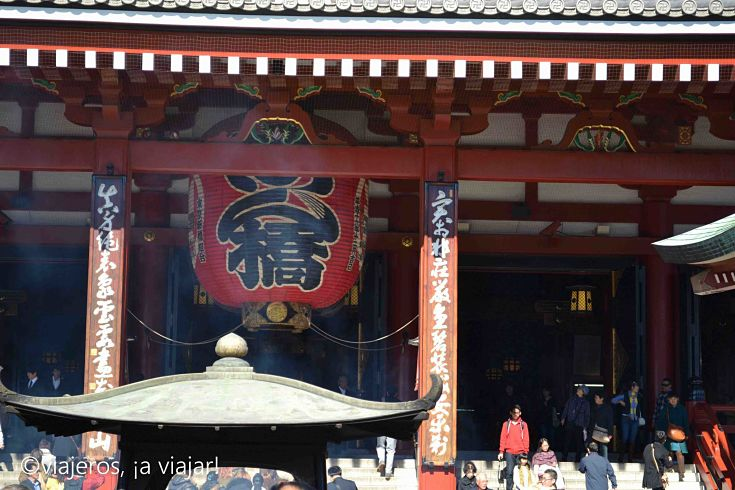 Tokio. Vista del templo Senso-ji