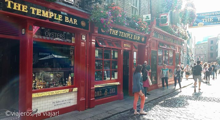 Paseando por Temple Bar, dublin