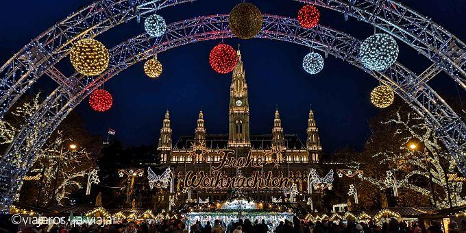 Mercados navideños. Mercado de rathaus platz