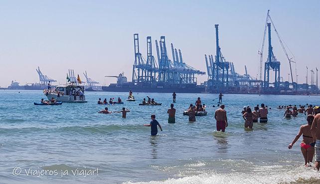 Barcos en la romería